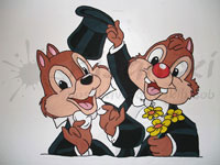 Slikanje na steno chip in dale